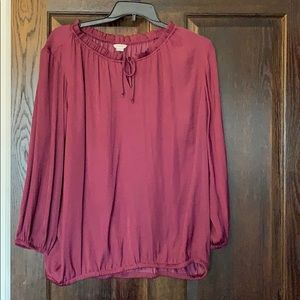 Maroon blouse from Stitch Fix